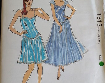 Kwik Sew Misses Nightgown Pattern 1813