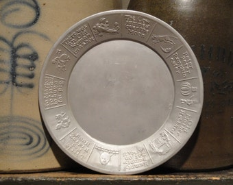 Childs Plate | Nursery Rhyme Plate | Aluminum Childs Plate