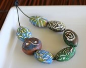 Ceramic African Beads - Blue Green Collection