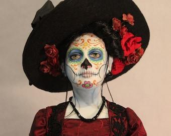 Day of the Dead Catrina art doll by William Bezek