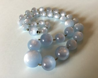 1950's Baby Blue Moonglow Necklace