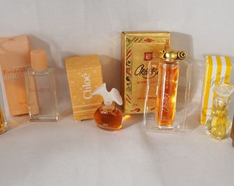 Collection of 6 Mini Perfumes Colognes Unused Original Boxes Lagerfeld Givenchy House of Versailles