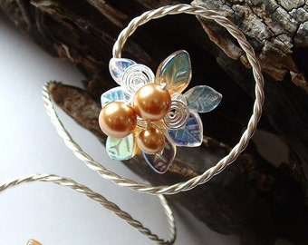 Fairy Lights Art Nouveau Arm Band Bracelet, Gift for Her