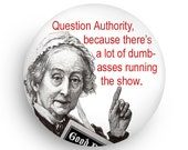 Question Authority Funny Magnet from Smirking Goddess Studio
