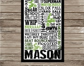 Motocross Digital Print Typography Personalized