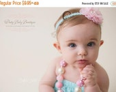 SALE Baby Girl Chunky Necklace, Pink Bubble Gum Necklace, Big Beads Bubblegum Necklace, Photo Prop Girl Necklace, childrens chunky necklace