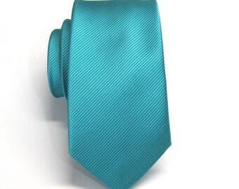 Mens Ties. Blue Tonal Stripe Skinny Necktie