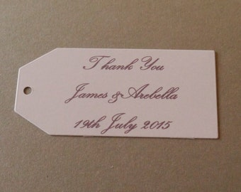 Custom personalized,thank you tags, Wedding Favor,Names Date baby shower, celebration Tags,