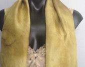 eco dyed silk scarf free size plus size