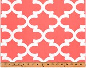 Clearance Premier Prints Fynn- Coral - Fabric by the Yard - Clearance Fabric - Coral Fabric - Orange Fabric - Fabric Destash