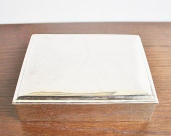 Vintage silver hinged plated box