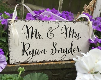 WEDDING SIGNS, Mr. & Mrs. Sign, Just Married Sign, Ring Bearer Signs, Flower Girl Signs, Mr. and Mrs Signs, 5.5 x 11.5
