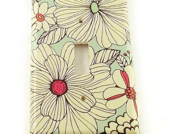 Switch Plate Light Switch Cover  Switchplate in  Sketch Flower  (142S)