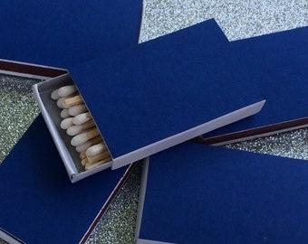 10 Blue Matchbox Wedding Favors Matte