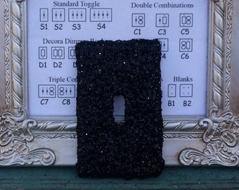 Custom Switchplate Black Glitter