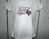 Texas ATM College University Spirit Gig Em Aggies Embroidered T-Shirt