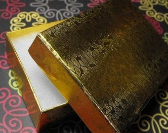 Valentines Day Sale 20 Pack Gold Foil Color Cotton Filled 3.25 X 2.25 X 1 Inch Size Retail Jewelry Gift Presentation Boxes
