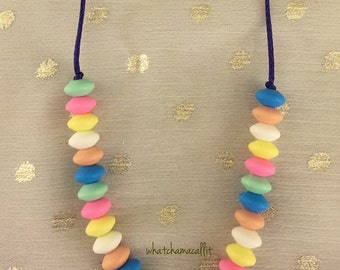 Teething Necklace, Etsy Baby, Silicone Bead Necklace, Teething Beads