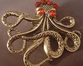 Octopus, Octopus brooch, Octopus jewelry,20,000 Leagues Under the Sea, Steampunk, Tiki, Ocean, Mermaid, Pirate