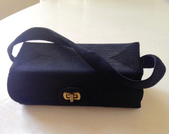 Vintage Black Rectangular Handbag