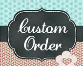 Custom order for Angi, die cut letter stencil