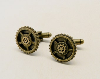 Steampunk cuff links .