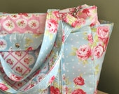 Custom Patchwork Large Diaper Bag Baby Triplets Twins by Watermelon Wishes