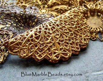 Brass Filigree-Filigree Stampings-Wholesale-Bulk-Assortment-Grab Bag-Mix-Sold By The Ounce