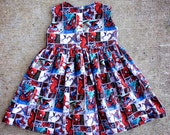 Custom Spiderman Sweetheart Dress - Size 2T-6