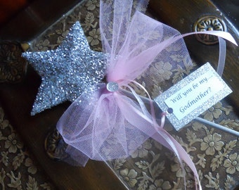 Will you be my ...Godmother? Pink Wand