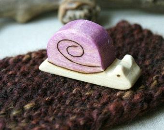 Wood n Wool Slow Snail- Purple