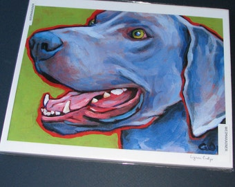 WEIMARANER Dog 8x10 Signed Art Print from Painting by Lynn Culp