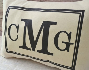 Personalized pillow , Monogram pillow, Christmas gift, personalized pillow Initials, newlywed  pillow, , wedding gift