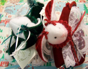 1988 velvet rabbit ornaments
