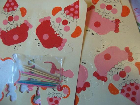 Etsy Cake Decorations : little clown birthday cake decorations
