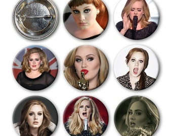 ADELE Pinback Buttons (set of 8)