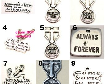 CHARM Add to your Boot Band Bracelet Army Navy marines Air Force Coast Guard usmc usaf uscg usn love heart combat boot arng lot 1 military