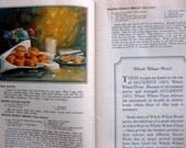 Vintage Flour Cookbook, Filled with Gorgeous Color Food Illustrations, Recipes