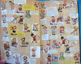 Fabulous Vintage Campbell Soup Kids Magazine Illustrations Scrapbook, 19 Jam Packed Pages