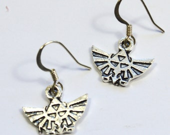 Legend of Zelda Link Royal Hyrule Crest Dangle Earrings
