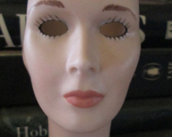 Porcelain Doll's Head  Porcelain Doll Parts  Doll Making Assemblage Doll Head M