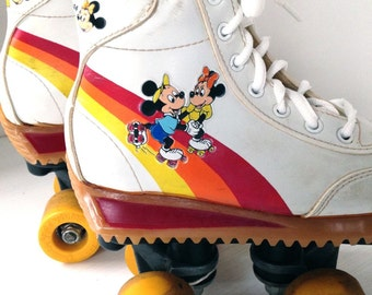 Vintage Mickey Mouse children's roller skates size 12 Minnie Mouse