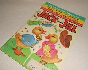 Vintage Jack and Jill Magazine, April 1965 Jack and Jill Magazine, Vintage Spring Decor, Childrens Book