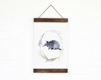 Armadillo- Hanging Archival Poster