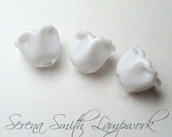 LILY of the VALLEY Artisan Lampwork Beads handmade jewelry supplies sra