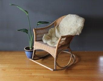 Rattan Modern Rocking Chair