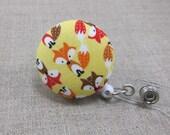 Foxes Badge Reel | Badge Holder, Retractable Badge Holder, Nurse Badge Reel, ID Badge Holder, Badge Clip, Cute Badge Reel