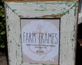 8 x 10 GREEN and WHITE old vintage wood picture frame