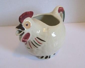 Vintage Shawnee Pottery Chanticleer Chicken Pitcher