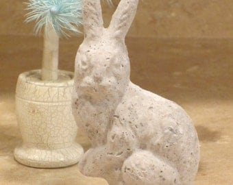 Unfinished paper mache Easter Bunny Rabbit Side View